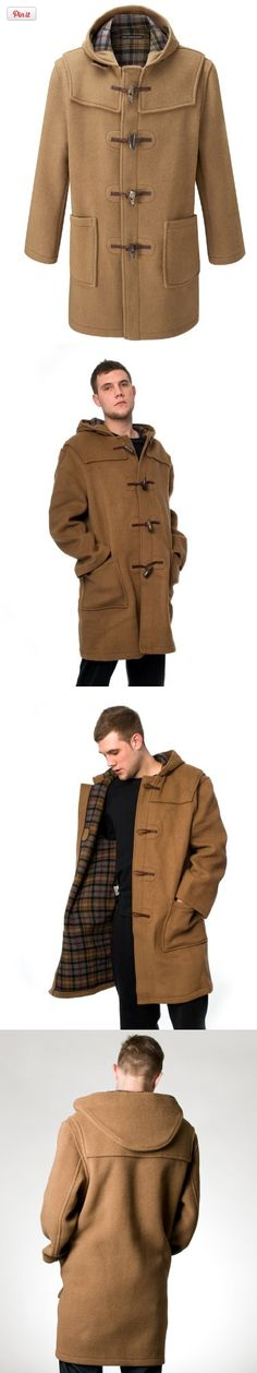 Original Montgomery Mens Duffle Coat (Size 46, Camel), Full length classic wool mix duffel coat Hand made in England Made from the finest Italian cloth from Tuscany 70% wool and 30% mixed fibres - the wool is completely recycled to preserve precious resou..., #Apparel, #Wool & Blends