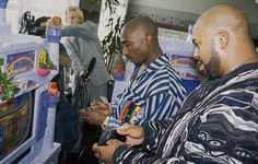 Classic Photo: Tupac Shakur and Suge Knight playing Sonic the Hedgehog 2 on a Sega Mega Drive
