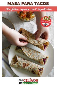 Tacos sin tacc Tacos Sin Gluten, Deli Food, Naan, Crepes, Gluten Free, Mexican, Keto, Tortillas, Cooking
