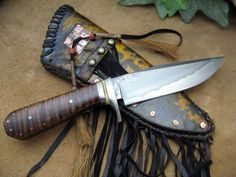 "Custom Made ""Primitive Clip-Point"" Hunter/Knife"
