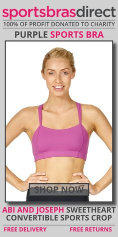 The Sweetheart Purple Sports Crop by abi and joseph is complimented by the beautiful pastille colours adding a touch of colour to your workout. Shop Now! #bra #sportsbra #purple #purplebra #purplesportsbra