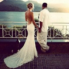 Love this low back Katie May Poipu gown