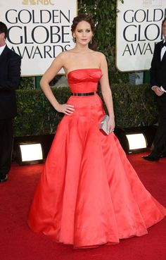 Jennifer Lawrence Red Dress #Fashion