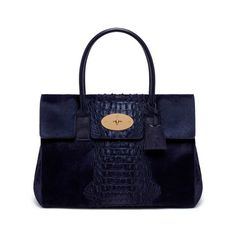 8e3ddd98c70 Mulberry - Bayswater in Midnight Blue Croc Printed Hair Calf Me Bag, Mulberry  Bag,