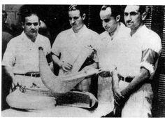 México :: Auñamendi Encyclopedia :: Euskomedia Los pelotaris Segundo, Lorenzo, Berrondo y Arruti en un partido en el frontón México a beneficio de los damnificados de Sinaloa. Año cuarenta