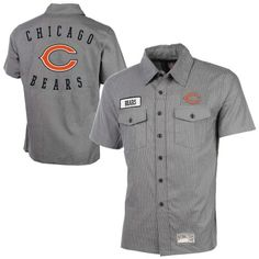 Chicago Bears Tailgate Button-Up Shirt - Gray