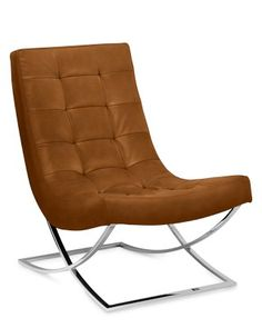 """Seating at kitchen or a pair at the living room? Williams Sonoma Home James Nickel  Leather Chair $1,995 28"""" x 35"""" x 35"""" high"""