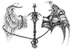 Sword-wolf tattoo by ~Nalavara on deviantART #HOLYSHIT #Tattoo #WANT