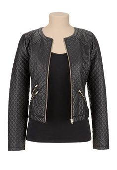Quilted faux leather jacket (original price, $69) available at #Maurices