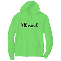 Blessed Bright Neon Green Adult Pullover Hoodie - Small ZeroGravitee http://www.amazon.com/dp/B01BYT0FUK/ref=cm_sw_r_pi_dp_UBCZwb0A0NKE6