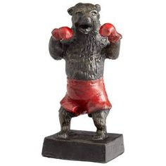 Check out the Cyan Design 05541 Bear Down Sculpture in Old World Bronze with Red priced at $95.00 at Homeclick.com.
