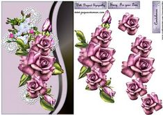 Sympathy Heritage Pink Roses and Lace Cross - CUP427878_936 | Craftsuprint