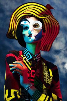 """harpersbazaar: From the Pages of BAZAAR: Picasso's Women """"Inspired by Pablo Picasso's portraits, makeup artist Kabuki finds beauty in the master's greatest muses."""" See all the stunning portraits HERE."""