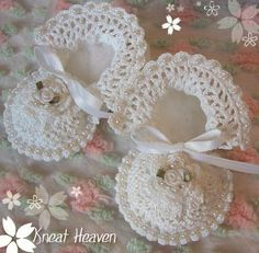 Thread Crochet Baby Booties | crocheted in beads they will be done in the colors of your choice
