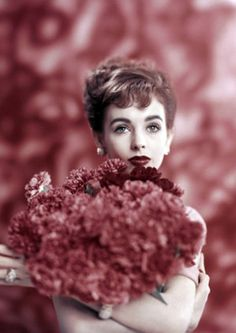 "theniftyfifties: "" Millie Perkins photographed by Karen Radkai for Vogue, January 1957. """