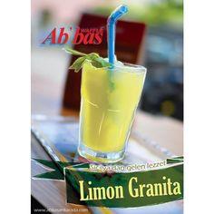 Limon Granita'nın içinizi kıpırdatacak serin lezzeti Abbas Waffle Bestekar şubemizde!