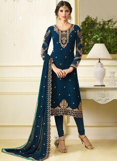 Aqua Georgette Salwar KameezYou can find Salwar kameez and more on our website. Pakistani Dresses, Indian Dresses, Indian Outfits, Indian Clothes, Desi Wedding Dresses, Wedding Outfits, Indian Designer Outfits, Indian Attire, Indian Beauty Saree