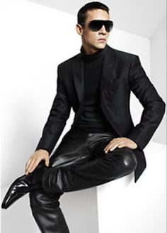 Jonathan Rhys Meyers Leather Pants