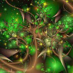 ♥ ⊰❁⊱ Arboreal Life by Alice Kelley. ⊰❁⊱ (fractal art)