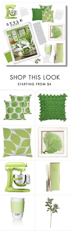 """Style Guide: Green"" by tabata-sachetti ❤ liked on Polyvore featuring interior, interiors, interior design, home, home decor, interior decorating, Olsen, Collier Campbell, Décor 140 and KitchenAid"