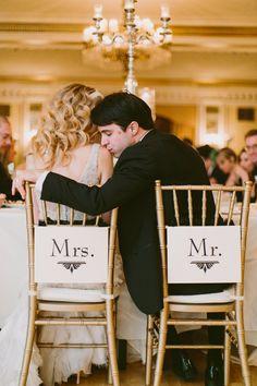Mr. & Mrs. | Art Deco wedding | Kati Mallory Photo & Design