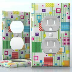 Quilt wall plates. Cool.