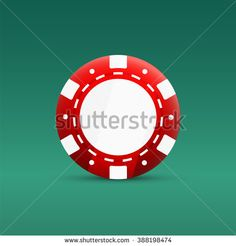 Casino poker chips icon. Red chips vector illustration.
