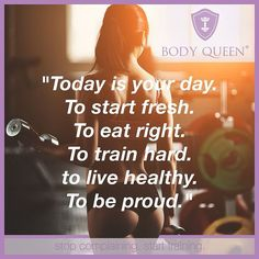 ⭐️Today is your day ⭐️ Stop complaining. Start training.  #bodyqueen #bodyqueenelite #fitfam #fitness #fit #fitnessblog #mantra #monday #stopcomplaining #starttraining #abnehmen #muskelaufbau #weightloss #healthy #healthylifestyle #fitnessaddict #abgerechnetwirdamstrand