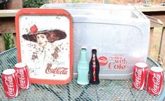 Coca Cola, coke cooler pen and serving tray, buy it all and I will even throw in a few cold cokes! such a deal!