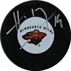 Martin Havlat Autographed Hockey Puck #SportsMemorabilia #MinnesotaWild