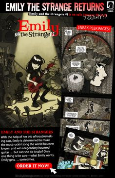 EmilyStrange.com  Blog: EMILY AND THE STRANGERS COMIC BOOK ON SALE NOW!