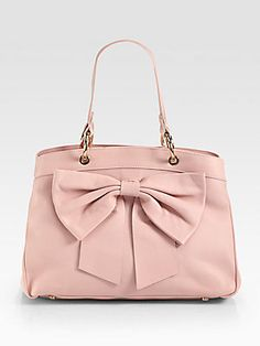 RED Valentino Structured Bow Tote inner compartments but no shoulder strap says SKB