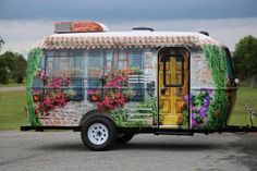 Brilliant Teardrop Trailer Wrapped In Artists Design Rolled Right