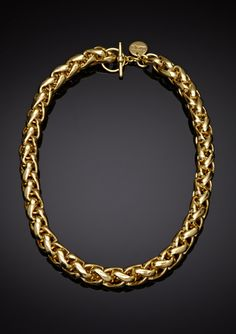 1AR by UnoAerre Braided Link Toggle Necklace