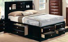 Ireland Espresso Wood Master Bedroom Set