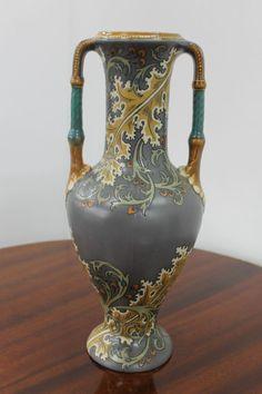 Mettlach Villeroy & Boch Vase Jugendstil Art Nouveau Keramik