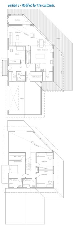 Modern House floor and building plans. Modern House Plan to Modern Family. Luxury House Plans, Modern House Plans, Building Concept, Block Design, Cabin Plans, Building Plans, Creative Home, Small Houses, Tiny House