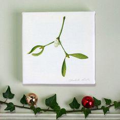 ' mistletoe ' canvas print by the botanical concept | notonthehighstreet.com £16.50 free pp