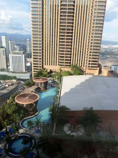 View of the 15th floor pool from my room