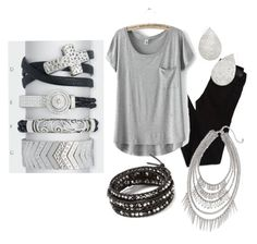 Silver Premier Jewelry Look by marmitage on Polyvore featuring American Eagle Outfitters