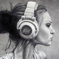 """LOVE THIS PRINT!! Saatchi Online Artist Brent Schreiber; Painting, """"LISTEN"""" #art"""