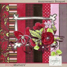 Anniversary Bouquet #freebie mini kit from Genia Beania #scrapbook #digiscrap #scrapbooking #digifree #scrap