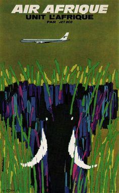 Air Afrique. Jacques Auriac. 1964