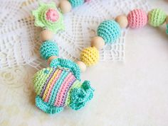 Items similar to Teething toy - Nursing Necklace - Pastel Fish on Etsy Crochet Pacifier Clip, Crochet Baby Toys, Newborn Crochet, Nursing Necklace, Kids Necklace, Best Baby Shower Gifts, Baby Gifts, Amigurumi Patterns, Crochet Patterns