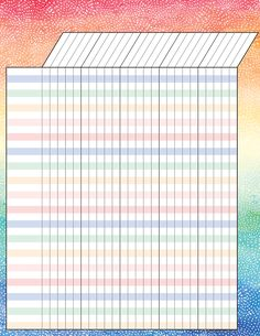 - Watercolor Incentive Chart, Convenient, useful learning tools that decorate as they educate! Each chart measures by Related lessons and ac.