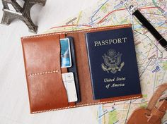 Personalized Passport Case & Luggage Tag in Set - Leather - Hand Stitched @HarLex Leathers Leathers Leathers Leathers Leathers Leathers $92 #harlex #handcrafted #handmade #leather #travel