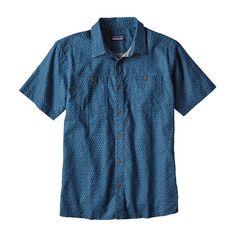 M's Back Step Shirt, Micro Medusa: Big Sur Blue (MMBS)