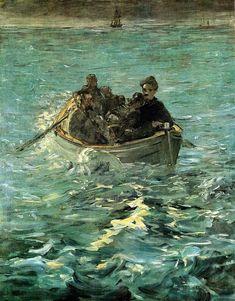ART & ARTISTS: Édouard Manet - part 8 1880-81 The Escape of Rochefort oil on canvas 146 x 116.2 cm Kunsthaus, Zurich #Manet