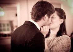 Real Wedding Bespoke Bride, first kiss