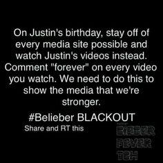 #BieberBLACKOUT. Let's do it.